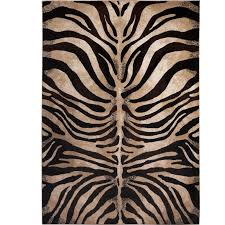 edolie animal print black ivory area