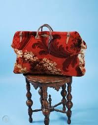 1860 rare oversized carpet bag w