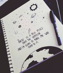 doodles quote and space εικόνα drawing quotes sketch book