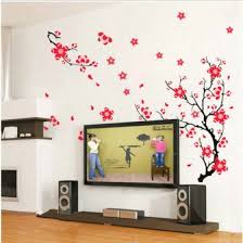 Shop Large Plum Blossom Flower Tree Wall Stickers Pvc Decal Mural Home Room Decor Diy Online From Best Wall Stickers Murals On Jd Com Global Site Joybuy Com
