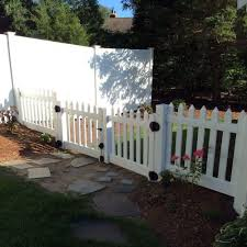 For The Front Yard Weatherables Plymouth 8 Ft W X 4 Ft H White Vinyl Picket Double Fence Gate Gwpi 3r5 Vinyl Picket Fence Privacy Fence Designs Fence Design