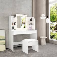 white dressing table makeup vanity