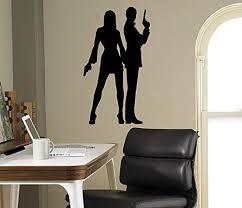 Amazon Com Secret Agent 007 Wall Decal James Bond Vinyl Sticker Home Decor Ideas Room Interior Wall Art 3 Bon Home Kitchen