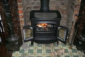 house with a wood burning stove