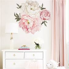 Best Discount 7fba Large Pink Peony Flowers Wall Stickers For Kids Room Living Room Romantic Flowers Bedroom Vinyl Art Wall Decal Home Decor Floral Cicig Co