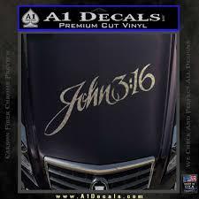 John 3 16 Script Decal Sticker A1 Decals
