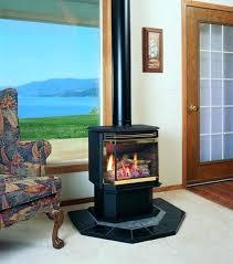 free standing gas log fireplace