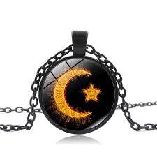 glass crystal muslim moon and star