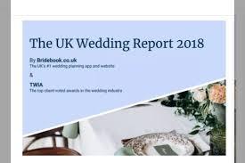 bridebook wedding report 2018 wedding