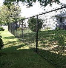 Black Vinyl Coated Chain Link Fence Black Chain Link Fence Chain Link Fence Fence
