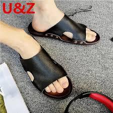 slippers men superior calf leather