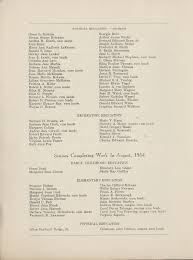 1954 Commencement Program