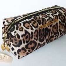 victoria secret cheetah makeup bag