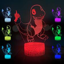3D Đèn Fire Dragon Con Số Phim Hoạt Hình Ánh Sáng Ban Đêm Pokemon ...