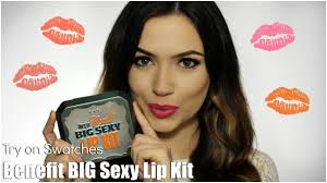 benefit big y lip kit try on