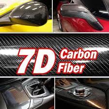 7d High Glossy Carbon Fiber Vinyl Decal Film Sticker Car Styling Air Release Ebay