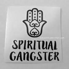 Spiritual Gangster Decal Ready To Ship Yeti Decal Yoga Yoga Decal Quote Decal Car Window Decal Decals For Y Custom Vinyl Decal Quote Decals Yeti Decals