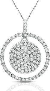 gold pave diamond double circle