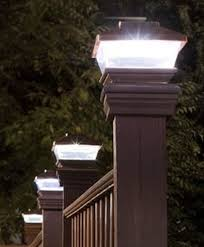 Green Garden Pl 244 Led Solar Powered Plastic Copper Outdoor Post Deck Square Fence Light