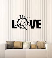 Vinyl Wall Decal Love Volleyball Ball Sport Beach Game Stickers Mural Wallstickers4you