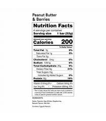 peanut er berries protein bars