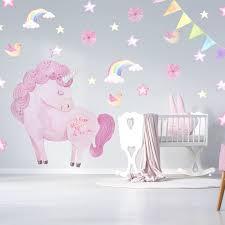 Unicorn Stickers Unicorn Wall Decals Rainbow