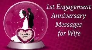 happy st engagement anniversary status for