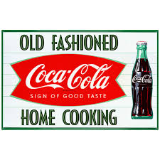 Coca Cola Fishtail 1960s Wall Decal Choose Wording Options At Retro Planet