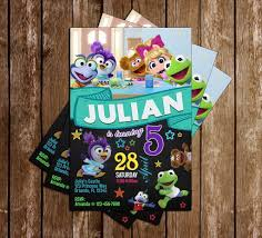 Muppet Babies Disney Jr Birthday Party Invitation Decoracion