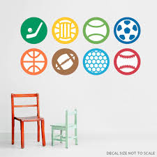 Sports Sticker Color Pack Printed Wall Decal