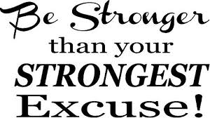 Amazon Com Creativesignsndesigns Creative Signs N Designs Be Stronger Than Your Strongest Excuse Motivational Fitness Vinyl Wall Decal 22 X 12 White Home Kitchen