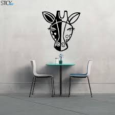 Giraffe Face Cartoon Decal For Walls Stickany