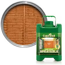 Cuprinol One Coat Sprayable Autumn Gold Matt Wood Paint Departments Diy At B Q