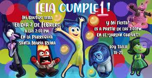 Inside Out Birthday Invitation Intensamente Invitacion De