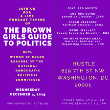 EVENT: The BGG Podcast Live with Women of Color Leaders of the democratic  political committees!