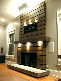 exotic wood fireplace surround modern