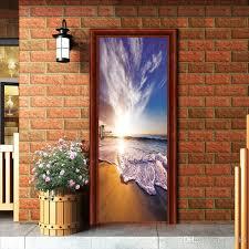 Sea Waterfall In Sunrise Art Picture Wallpaper Mural Waterproof Removable Art Vinyl Decal Door Sticker Living Room Home Decoration Sticker Wall Decal Sticker Wall Decals From Fst1688 30 15 Dhgate Com
