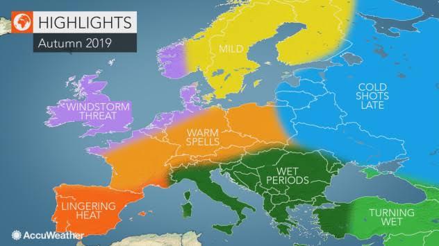 accuweather 2019 autumn forecast ile ilgili görsel sonucu