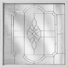 decorative glass fixed vinyl window