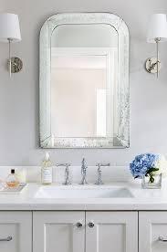 washstand with white quartz countertop