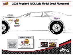 Late Model Decal Placement Imca International Motor Contest Association