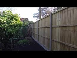Erecting A New Concrete Post And Panel Fence Youtube