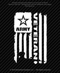 Distressed Army Veteran Flag Vinyl Decal Military Window Sticker 4 Sizes Veterans Flag Woodworking Plans Patterns Vinyl