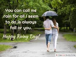 rainy day love quotes and poems for her him