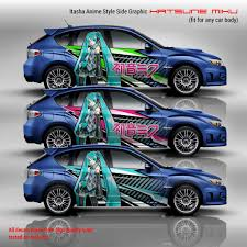 Hatsune Miku Itasha Anime Style Side Graphic Decals Vocaloid
