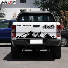 Pickup Truck Decor Sticker Mountains 4x4 Off Road Graphics Car Tail Gate Vinyl Decal For Ford Range Auto Accessories Car Stickers Aliexpress