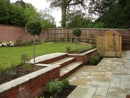 patio layout sloped backyard