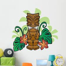 Exotic Tiki God Wall Decal Sticker By Wallmonkeys Vinyl Peel Stick Graphic For Boys 48 In W X 45 In H Walmart Com Walmart Com