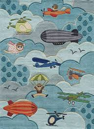 Such A Fun Rug For A Boy S Airplane Room Love All The Detail Kids Area Rugs Kids Rugs Hand Tufted Rugs