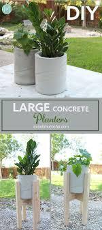 modern diy large concrete planter how